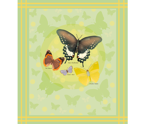 Dots_and_butterflies fabric by margaretsart on Spoonflower - custom fabric