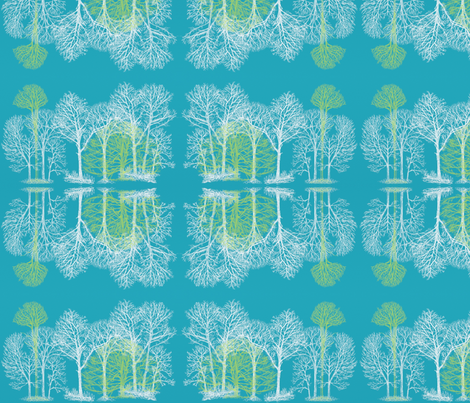 Treescape fabric by balanced on Spoonflower - custom fabric