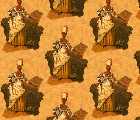 Creole Lady fabric by nalo_hopkinson on Spoonflower - custom fabric