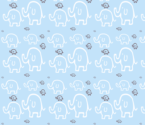 Elephants_on_parade2 fabric by sweetbirdie on Spoonflower - custom fabric