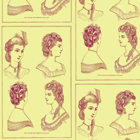 It's All About the Hair fabric by nalo_hopkinson on Spoonflower - custom fabric