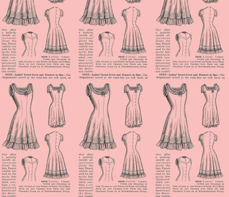 Vintage_drawers_pink fabric by nalo_hopkinson on Spoonflower - custom fabric