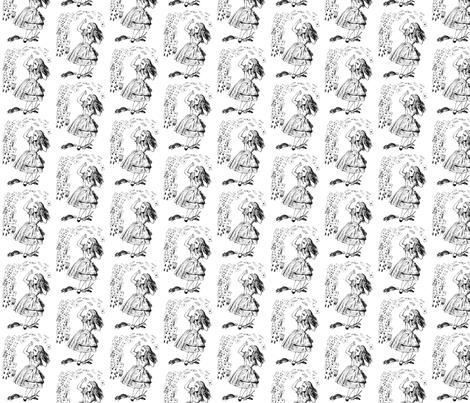 Alice&cards fabric by birgitterosenkilde on Spoonflower - custom fabric