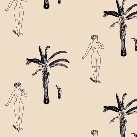 Nude Tempted by Fruit fabric by nalo_hopkinson on Spoonflower - custom fabric