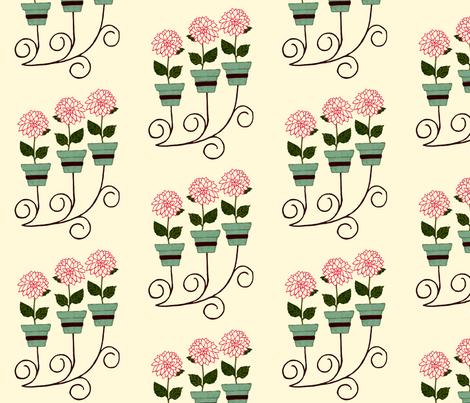 Dahlia Wall Planter fabric by cksstudio80 on Spoonflower - custom fabric