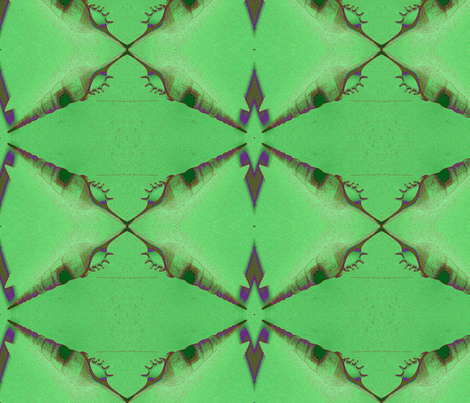 Shell_green fabric by nalo_hopkinson on Spoonflower - custom fabric