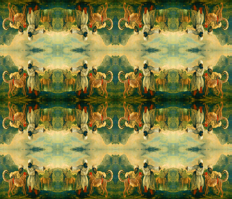 La Chasse fabric by nalo_hopkinson on Spoonflower - custom fabric