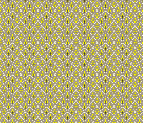 Michi (Yellow and Grey) fabric by jmaranez on Spoonflower - custom fabric