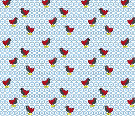 Wandering Birds (Blue) fabric by jmaranez on Spoonflower - custom fabric