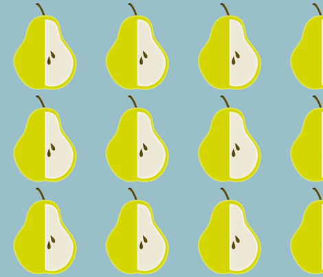 pear_edited-3 fabric by dreamwhisper on Spoonflower - custom fabric