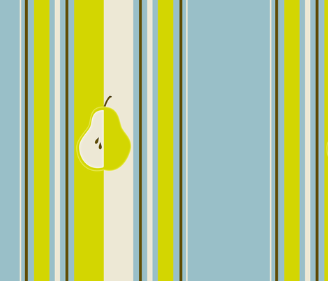 pear_stripe_edited-1 fabric by dreamwhisper on Spoonflower - custom fabric