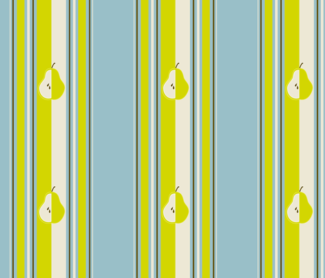pear_stripe_edited-2 fabric by dreamwhisper on Spoonflower - custom fabric