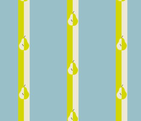 Pear Stripe fabric by dreamwhisper on Spoonflower - custom fabric