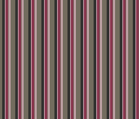 Pink and Mocha Stripe fabric by dreamwhisper on Spoonflower - custom fabric