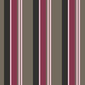 Pink and Mocha Stripe