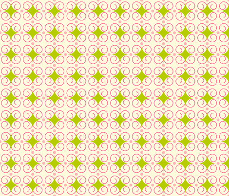 CurlyQ fabric by stellakit on Spoonflower - custom fabric