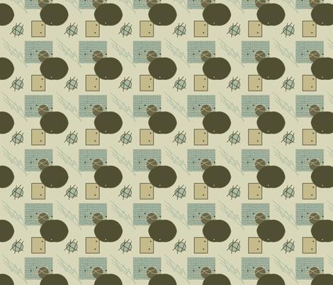P_Q_Abstract_1_tan fabric by rennata on Spoonflower - custom fabric