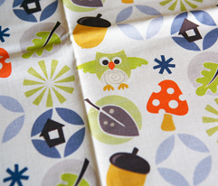 owl autumn pattern