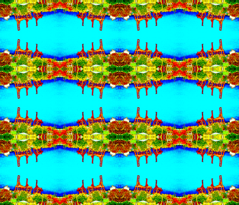 Flightless cranes, Vancouver Harbour fabric by nalo_hopkinson on Spoonflower - custom fabric