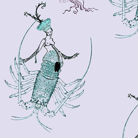 Chimeric Mermaid fabric by nalo_hopkinson on Spoonflower - custom fabric
