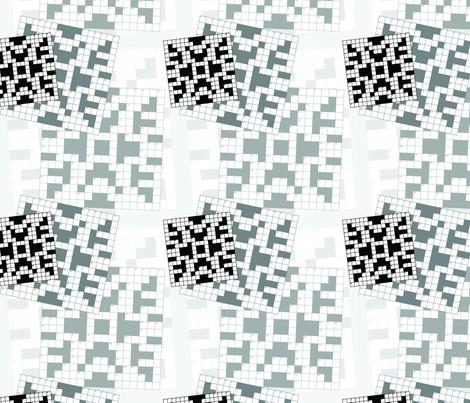 Crossword Puzzle fabric by studiofibonacci on Spoonflower - custom fabric