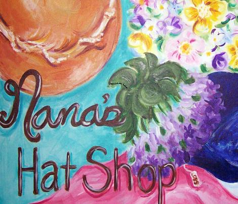 nana_s_hat_shop_print fabric by jenniferm82 on Spoonflower - custom fabric