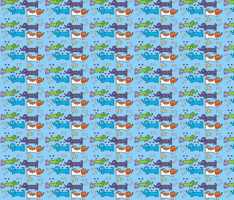 dogs2-bg fabric by jelenemorris on Spoonflower - custom fabric