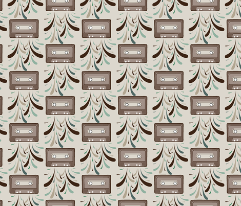 cassette_explosion fabric by daniellerenee on Spoonflower - custom fabric