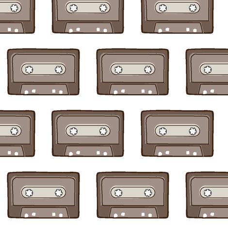 audio_cassette_tape fabric by daniellerenee on Spoonflower - custom fabric