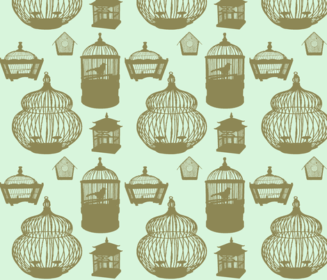 the birdcage fabric by loolabee on Spoonflower - custom fabric