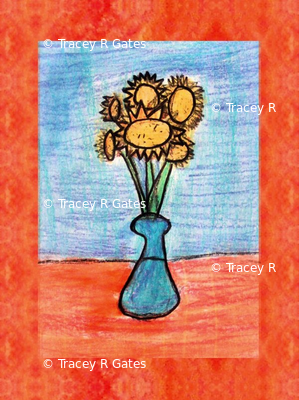Cheery Sunflowers in a Vase