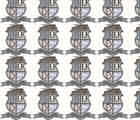 Pope Greyhounds RFC Crest fabric by gpanga on Spoonflower - custom fabric