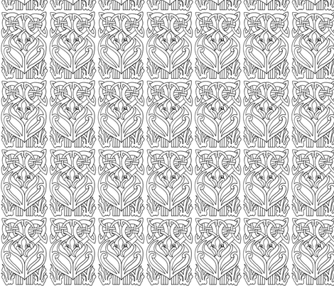 Celtic_animal_design fabric by kristenmary on Spoonflower - custom fabric