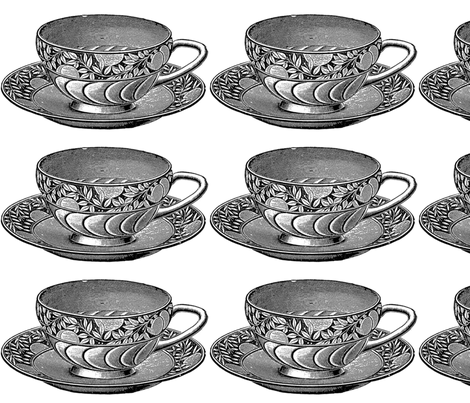 tea_cup fabric by kristenmary on Spoonflower - custom fabric