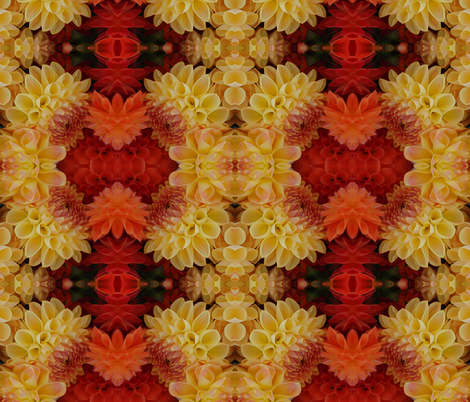 Dahlias fabric by janied on Spoonflower - custom fabric
