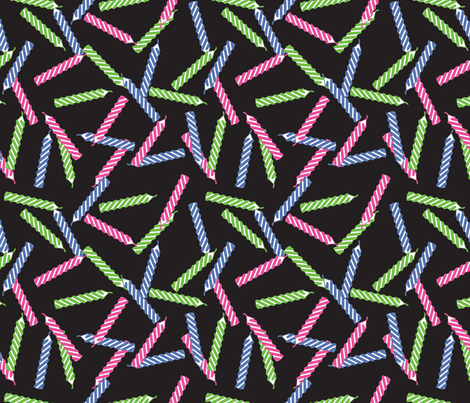 birthday-candles_black fabric by ophelia on Spoonflower - custom fabric