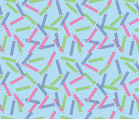 birthday-candles_blue fabric by ophelia on Spoonflower - custom fabric