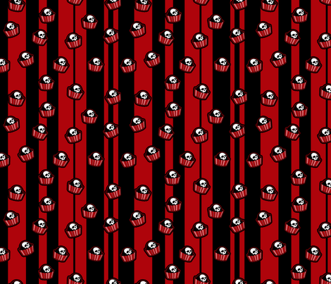 skull-candy-pieces_red fabric by ophelia on Spoonflower - custom fabric