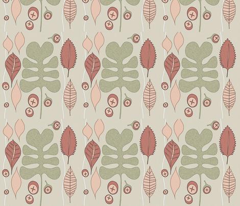 orange_leaves fabric by ssalzberg on Spoonflower - custom fabric