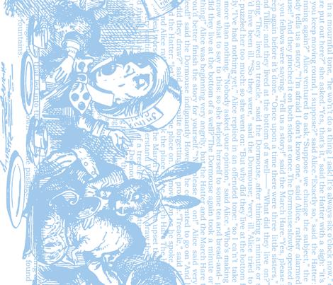 alice-vintage-border_blue-white fabric by ophelia on Spoonflower - custom fabric