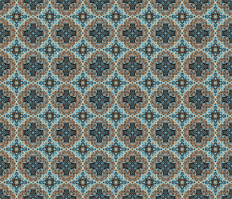 Medallion Dark fabric by littlebear on Spoonflower - custom fabric