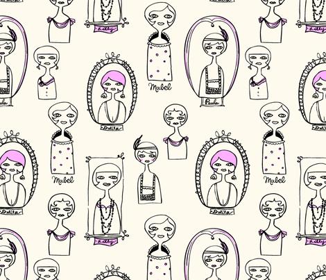dolls fabric by rexgirl on Spoonflower - custom fabric