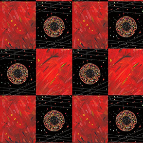 Red and black patchwork