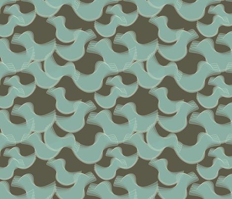 Rockin_Duck3_blue fabric by nadja on Spoonflower - custom fabric