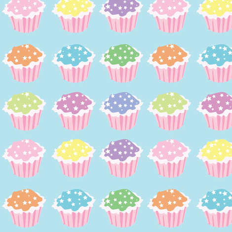 Star Sprinkle Cupcakes fabric by stacysix on Spoonflower - custom fabric