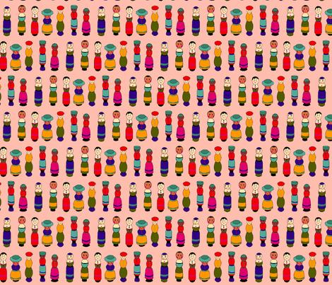 dolls_pink fabric by lfntextiles on Spoonflower - custom fabric
