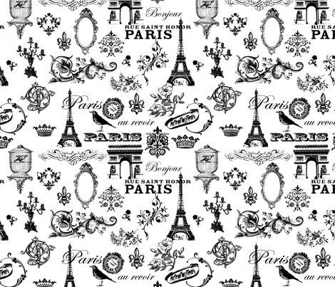I_Love_Paris fabric by chocholic on Spoonflower - custom fabric