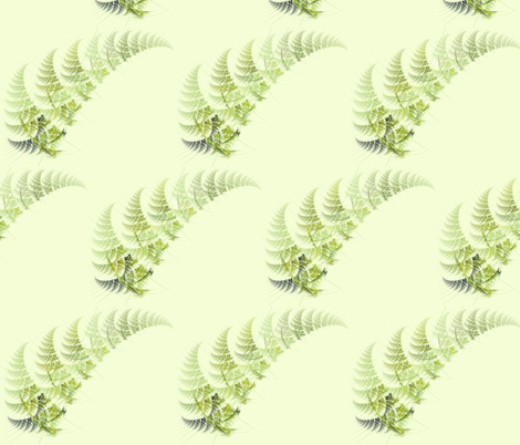 Summer Ferns fabric by winter on Spoonflower - custom fabric