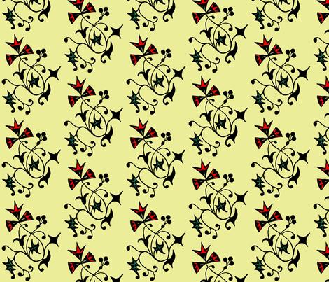 Vine, yellow fabric by nalo_hopkinson on Spoonflower - custom fabric
