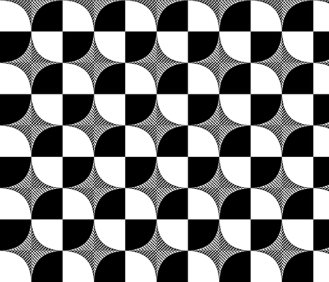Gridded_Curve_-_Black_and_White_inverted_quasar fabric by dobbyknits on Spoonflower - custom fabric